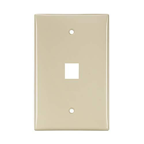 Leviton 41091-1In Quickport Midsize Wallplate, Single Gang, 1-Port, pale