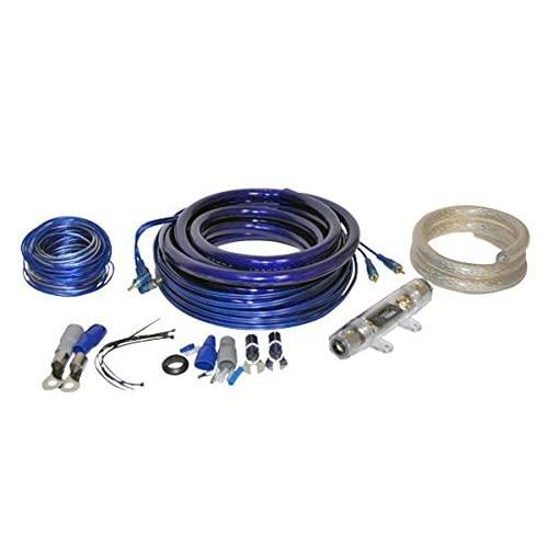 Lanzar Contaq Speaker & Amplifier Wiring Combo Installation Kit, 0-Gauge Power/Ground, 16-Gauge Remote, 20' Foot Rca Amplifier Complete Install Kit With 150 Amp Anl Inline Fuse 4000W (Ampkit0)