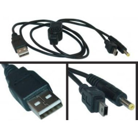 Usb To Playstation Portable (Psp) Power + Data Sync Cable, 3 Ft