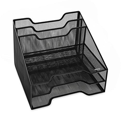 Rolodex Mesh Collection Stacking Sorter, 5-Section, Combination Sorter, Standard Packaging