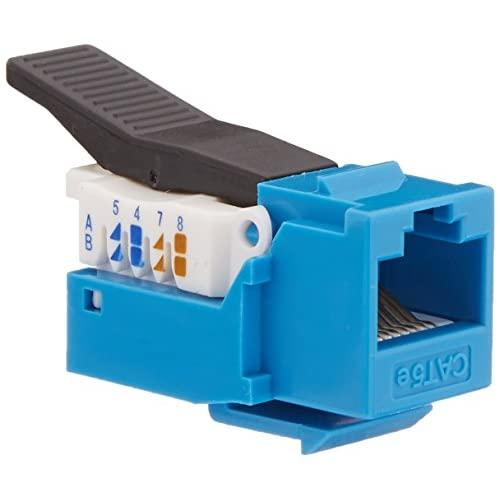 C2G/Cables To Go 35226 Cat5E Toolless Keystone Jack - Blue