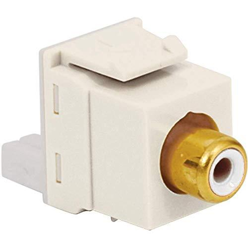 Icc Rca To Idc Modular Jack With White Insert And Gold Plated Connector In Hd Style