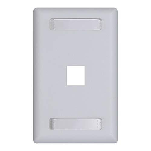 Icc Station Id Faceplate With 1 Port For Ez/Hd Style In Single Gang, White