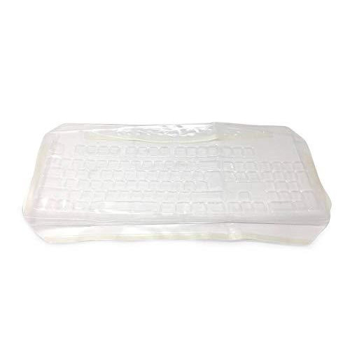 Keyboard Cover Compatible With Microsoft 800 & 1455 - Part 624G1108 - Protects From Mold, Spills, Dirt, Grease, Food, And Bacteria - Easy To Clean And Disinfect.