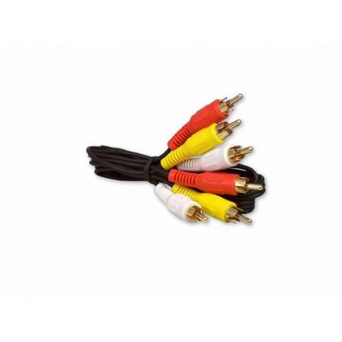 Your Cable Store 3 Foot Rca Audio / Video Cable 3 Male To 3 Male