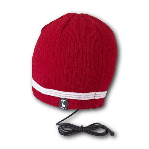 Tooks Velocity Headphone Hat With Built-In Removable Headphones - Color: Red