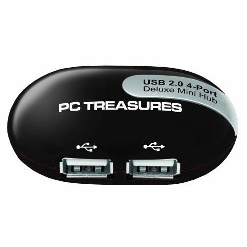 Digital Treasures Usb Mini-Hub With 4 Usb Ports (07203)