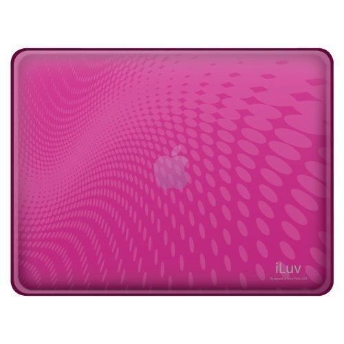 Iluv Flexi-Clear Tpu Case With Dot Wave Pattern For Ipad - Pink