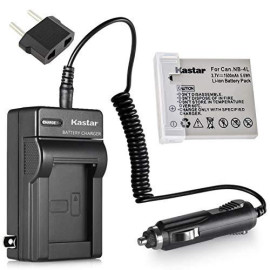 Kastar Battery And Charger For Canon Powershot Sd1000 Sd1100Is Sd1400Is Sd200 Sd30 Sd300 Sd400 Sd430 Sd600 Cameras