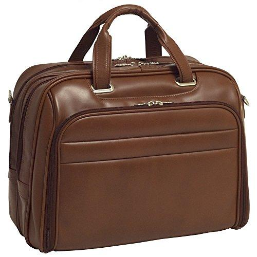 """Mckleinusa R Series, Springfield, Top Grain Cowhide Leather, 15"""" Leather Fly-Through Checkpoint-Friendly Laptop Briefcase, One Size, Brown (86594)"""