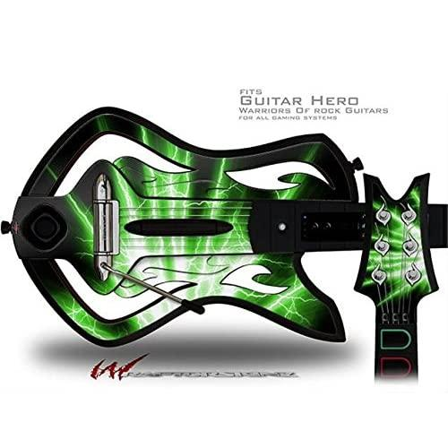 Lightning Green Decal Style Skin - Fits Warriors Of Rock Guitar Hero Guitar (Guitar Not Included)