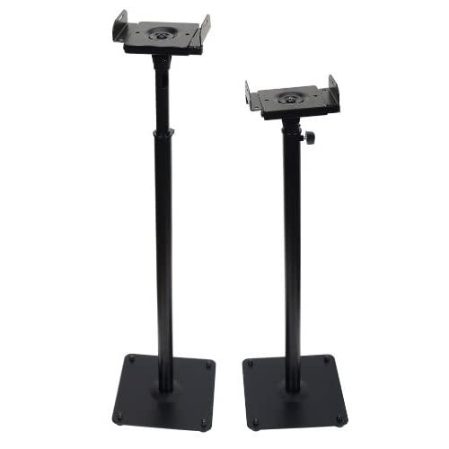 Videosecu One Pair Of Side Clamping And Height Adjustment Universal Floor Stands Speaker Mounting Bracket For Surround Sound Speakers, With Level Adjustment And Cable Management Ms07B2 M99