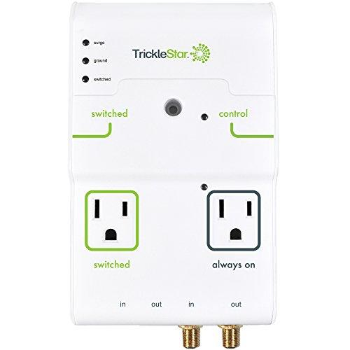 Tricklestar 4 Outlet Advanced Powertap, 2160 Joules, Coax And Rj11/45 Secondary Protection