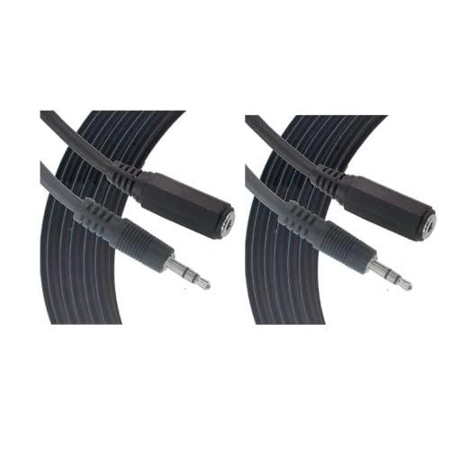 Comprehensive 25Ft Headphone Extension Cable 3.5Mm Stereo Mini Male To Female Cable 2-Pack