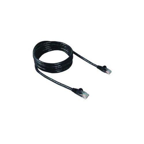Black Point Products Bt-196 Black Cat-5 7-Foot Enhanced Patch Cord, Black