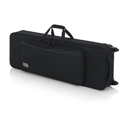 Gator Lightweight Keyboard Case With Pull Handle And Wheels; Fits Slim 61 Note Keyboards And Electric Pianos (Gk-61-Slim)