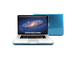 Macbook Pro Crystal 15 Inch Case, Gmyle 2 In 1 Bundle Deal Aqua Blue Hard Shell Protective Cover With Keyboard Cover