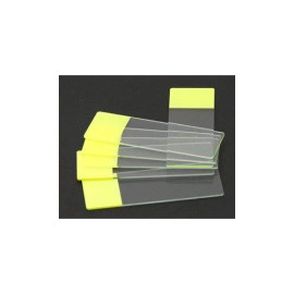Seoh Yellow Colored End Label Microbiology Microscope Slides (Pk Of 72)