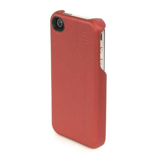 Tucano Iphb-R Buccia Metal Brush Eco Leather Iphone 4 Open Face Case - 1 Pack - Retail Packaging - Red