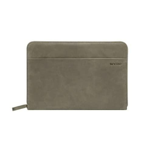 """Incase Leather Sleeve For 11"""" Macbook Air - Moss Green / Warm Grey - Es87047"""