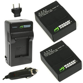 Wasabi Power Battery (2-Pack) And Charger For Gopro Hero3+, Hero3 And Gopro Ahdbt-201, Ahdbt-301, Ahdbt-302