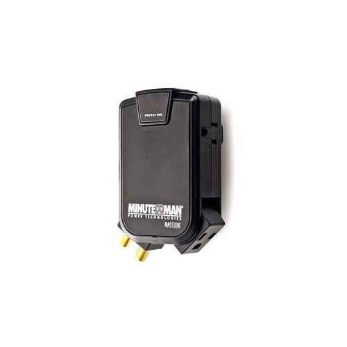 Minuteman Ups-Wall Tap- Side Outlet Surge W/ Coax