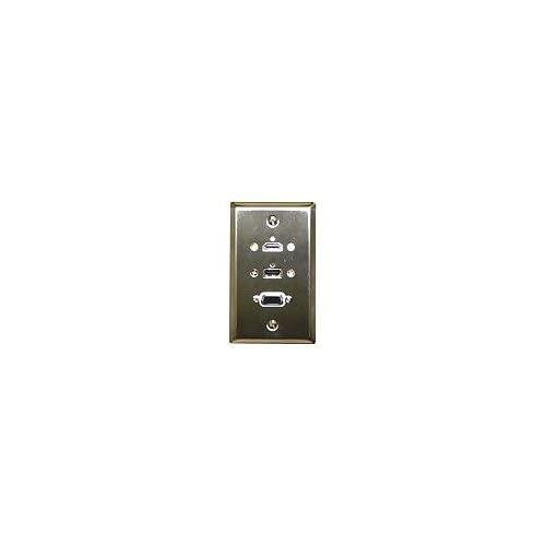 Philmore Stainless Steel Wall Plate With Hdmi & Vga & Usb A Connections, 75-648 (1) By Philmore Lkg