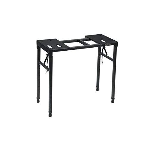 """Gator Frameworks Keyboard And Audio Utility Table With Multi Point Adjustability And Built In Leveling Bubble; Min/Max Height - 26""""/44"""" (Gfw-Utility-Tbl)"""