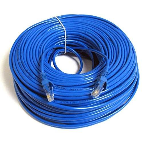 Ubigear New 150Ft 50M Blue 150' Ft Rj45 Cat6 Ethernet Lan Network Internet Computer Patch Solid Wire 23 Awg Utp Cable