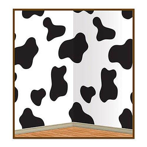 Beistle 52124 Cow Print Backdrop Party Accessory, 4-Feet By 30-Feet