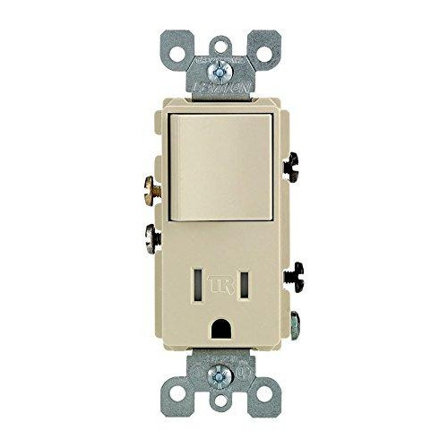 Leviton S01-T5625-Isp 15 Amp pale Single Pole Switch & Receptacle Combinatoin