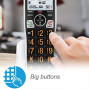 At&Amp;T Crl82212 Dect 6.0 Phone Answering System With Caller Id/Call Waiting, 2 Cordless Handsets, Black/Silver