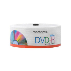 Memorex Eco Friendly 4.7Gb 16X Dvd-R 30 Pack Eco Spindle (32020030147)