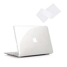Ruban Macbook Air 13 Inch Case - Fits Previous Generations A1466 / A1369 (Will Not Fit 2018 Macbook Air 13 With Touch Id), Slim Snap On Hard Shell Protective Cover And Keyboard Cover,Crystal Clear