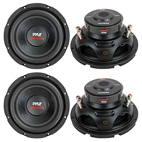 """Pyle Plpw8D 8"""" 1600W Car Audio Subwoofers Subs Woofers Stereo Dvc 4-Ohm"""