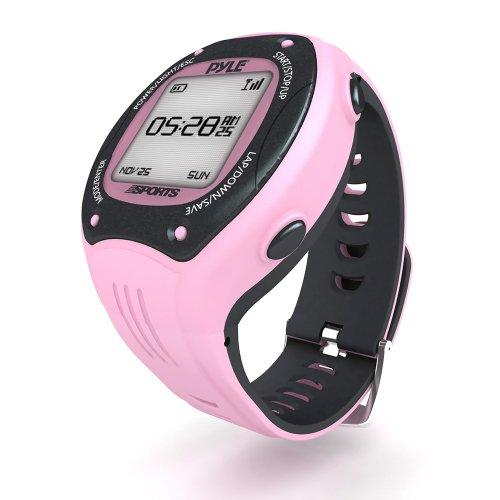Multifunction Sports Training Wrist Watch - Smart Classic Pro Fit Exercise Sport Running Digital Heart Rate Fitness Gear Tracker W/ Gps, E-Compass, Ant+ Support, For Men Women - Pyle Psgp410Pn (Pink)