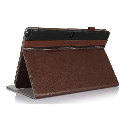 Procase Galaxy Pro 12.2 Case (Galaxy Tab Pro 12.2 Inch And Note Pro 12.2), Built-In Stand With Multiple Viewing Angles, Bonus Stylus Pen Included (Brown/Black)