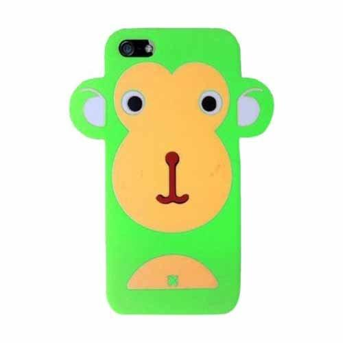 Hype Iphone 5 100% Silicone Green Monkey Protective Cell Phone Skin Case