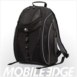 Mobile Edge Black W/Silver Trim Express Laptop Backpack 2.0 16 Inch Pc, 17 Inch Mac For Men, Women, Students Mebpe22