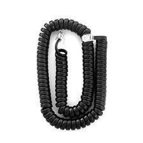 Polycom Soundpoint 12 Ft. Black Handset Cord For Ip 301, 501, 601, 670, 321, 331, 335, 450, 550, 560, 650 Phones - 19 Inches Long / 12 Foot When Stretched