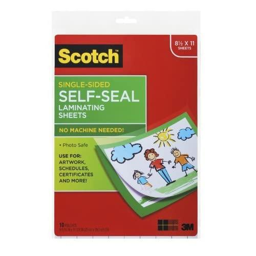 Scotch Laminating Sheets Ls854Ss-10, 9 Inches X 12 Inches, Letter Size, Single Sided(2Pack )
