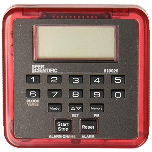 Sper Scientific 810026R Count Up/Count Down Timer With Memory