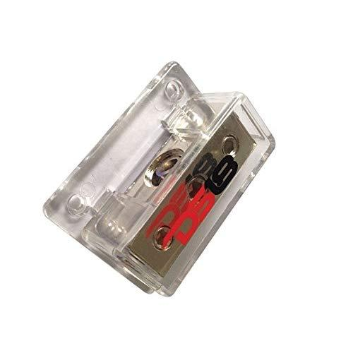 Ds18 Db1024 Distribution Block (12 Pack) - 1 X 0Ga In/ 2 X 4Ga Out, Nickle Plated Internal Materials, High-Strength Heat Resistant Plastic Housing, Oversized Screws For Secure Connections (1 In 2 Out)