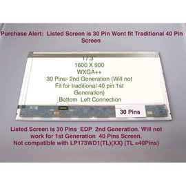 "Generic New 17.3"" 1600X900 Laptop Replacement Led Lcd Screen Compatible With Acer Aspire Es1-711-P1Uv"