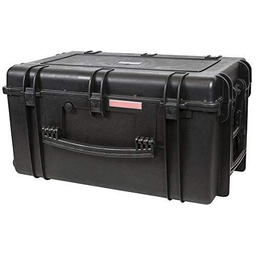 "Monoprice Weatherproof/Shockproof Hard Case With Wheels - Black Ip67 Level Dust And Water Protection Up To 1 Meter Depth With Customizable Foam, 33"" X 22"" X 17"""