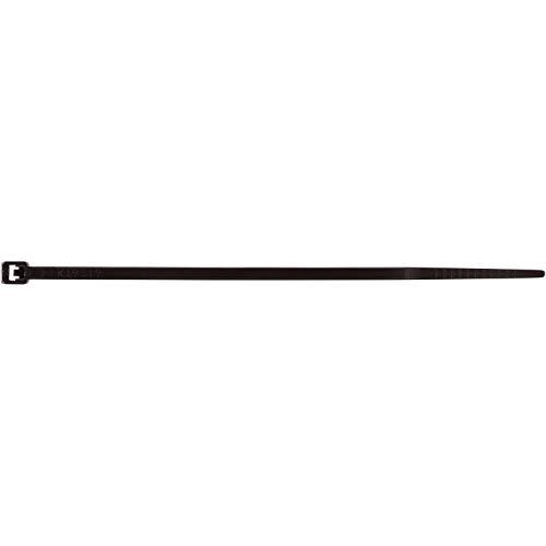 Morris Products Ultraviolet Black Nylon Cable Ties - 8 Inch Length -Heavy Duty, 50-Pound Tensile Strength - Cable Organization Applications - Uv Safe, Ul Approved - Pack Of 1000
