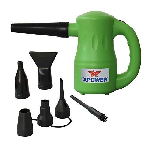 Xpower A-2 Airrow Pro Multi-Use Electric Computer Duster, Canned Air Replacement, Dryer, Air Pump Blower - Green