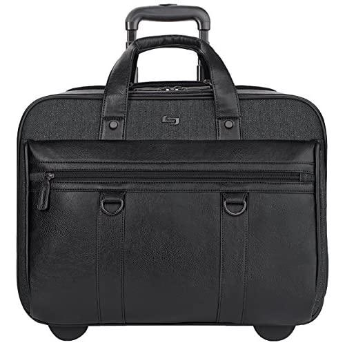 Solo New York Macdougal Rolling Laptop Bag. Rolling Briefcase For Women And Men. Fits Up To 17.3 Inch Laptop - Black