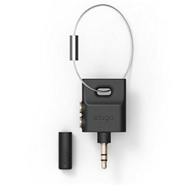 Elago Keyring Headphone Splitter For Iphone, Ipad, Ipod, Galaxy And Any Portable Device With 3.5Mm (Black)