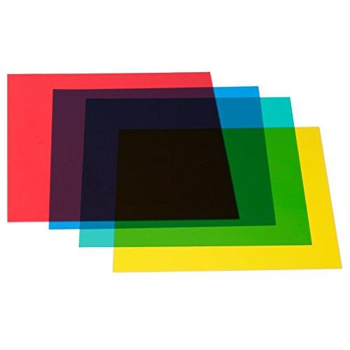Neewer 12X12Inches/30X30Centimeters 4-Color Correction Gels Light Filter Transparent Film Sheet For Flash Strobe: Red Yellow Green Blue